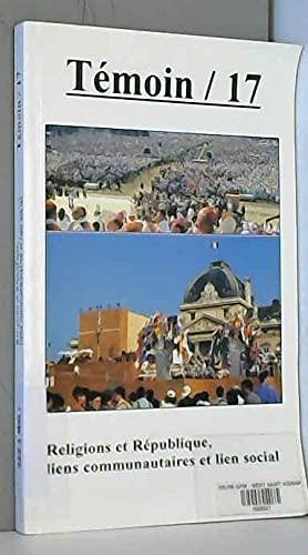 9782913532021: Religions et République, liens communautaires et lien social