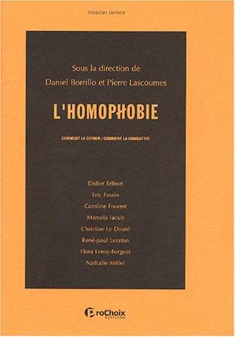 9782913749016: L'homophobie, comment la d�finir, comment la combattre