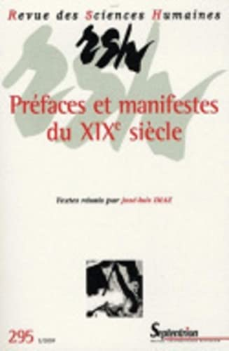 9782913761421: préfaces et manifestes du XIX siècle