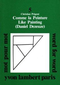9782913893245: Mot pour Mot N 5 - Daniel Dezeuze - Comme la Peinture