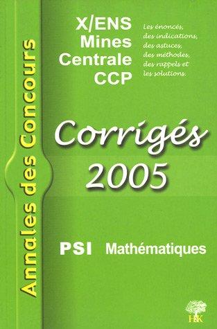 9782914010788: Mathématiques PSI