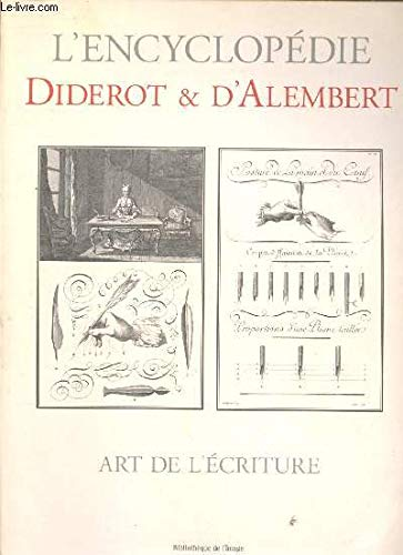 Art De L'Ecriture (French Edition) (2914239831) by D'Alembert; Diderot