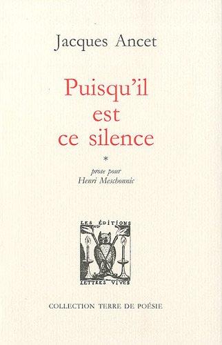 9782914577458: Puisqu'il est ce silence