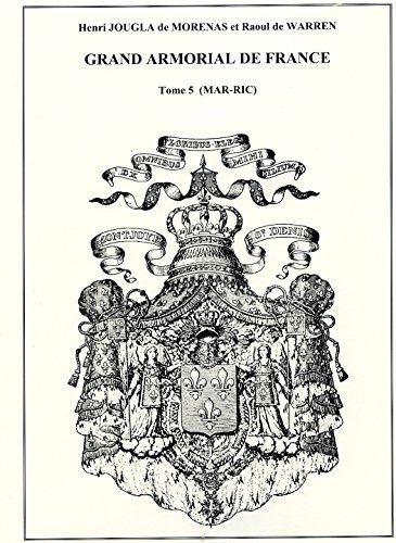Grand armorial de France : Catalogue général: Henri Jougla de