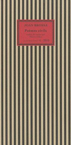 Poèmes civils : Edition bilingue français-catalan: Joan Brossa