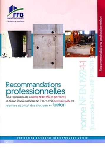 9782915162639: recommandations professionnelles pour l'application de la norme nf re 1992-1-1 et de son annexe nat