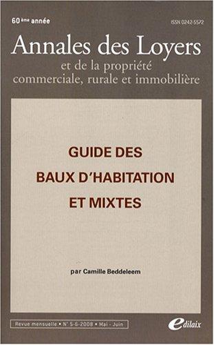 9782915334340: Guide des baux d'habitation et mixtes