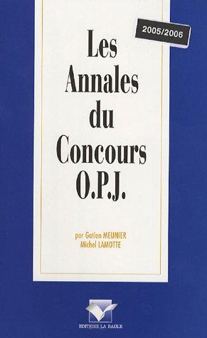 9782915360547: Les Annales du Concours OPJ