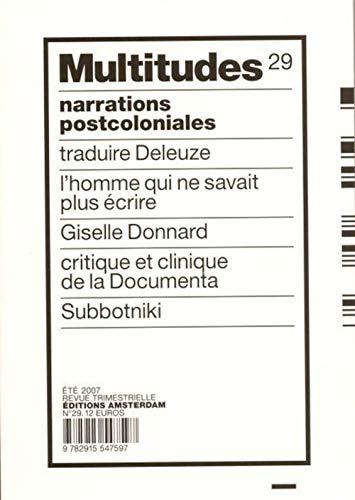 9782915547597: Multitudes N°29: Narrations Postcoloniales