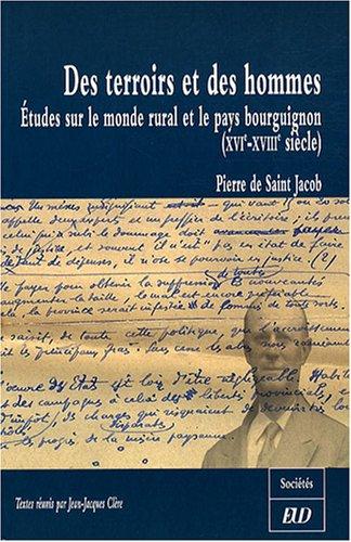 Des territoires et des hommes etudes sur le monde rural et le pay: Saint Jacob Pierre de