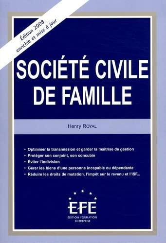 9782915661163: Société civile de famille