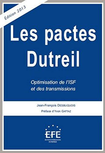 Les pactes Dutreil: Desbuquois Jean Fran