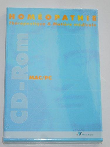 9782915668131: Homéopathie : thérapeutique et matière médicale : CD-ROM