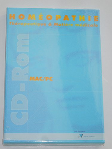 9782915668131: Hom�opathie : th�rapeutique et mati�re m�dicale : CD-ROM