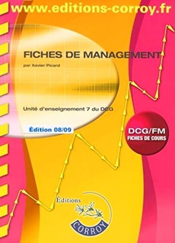 9782915756975: Fiches de management UE 7 du DCG