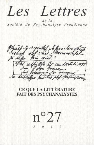 Lettres de la SPF (Les), no 27: Collectif