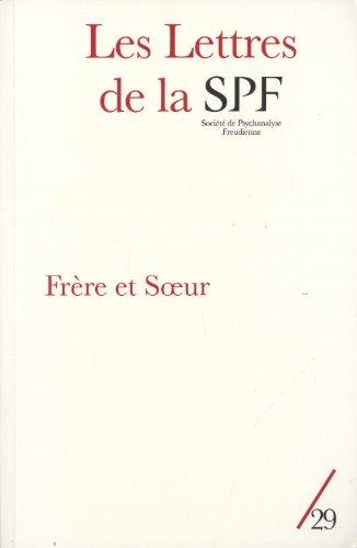 Lettres de la SPF (Les), no 29: Collectif
