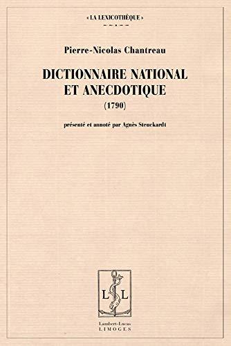 9782915806786: dictionnaire national et anecdotique (1790)