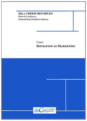 9782915973174: Initiation au Marketing