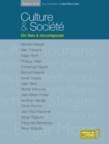 9782916002088: Culture & Société : Un lien à recomposer