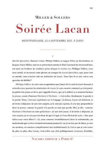 Soirée Lacan: Miller, Jacques-Alain