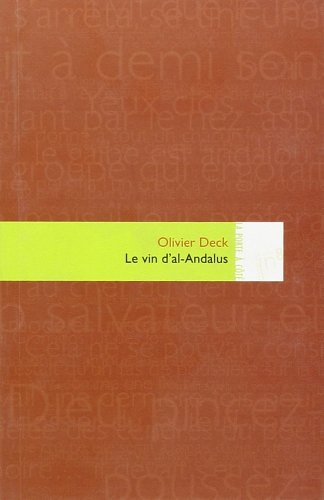 9782916159287: Le vin d'al-Andalus (French Edition)