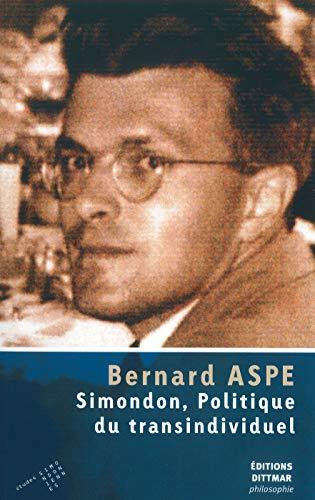 9782916294407: Simondon, politique du transindividuel
