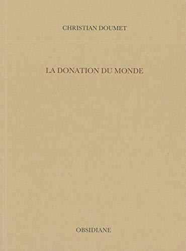 DONATION DU MONDE -LA-: DOUMET CHRISTIAN