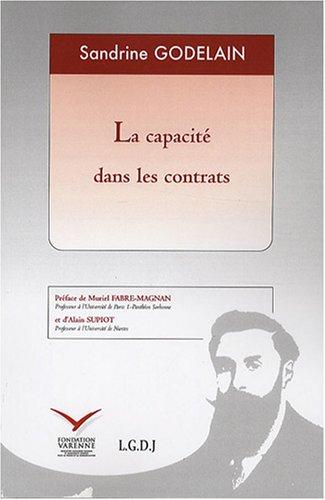 la capacité dans les contrats: Sandrine Godelain