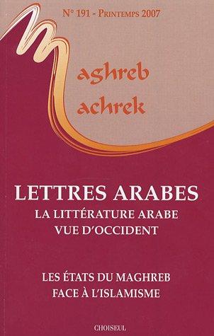 Maghreb-Machrek, N° 191, printemps 20 : Lettres: Jean-François Daguzan