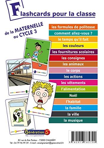 9782916785790: Flashcards pour la Classe ! (de la Maternelle au Cycle 3)