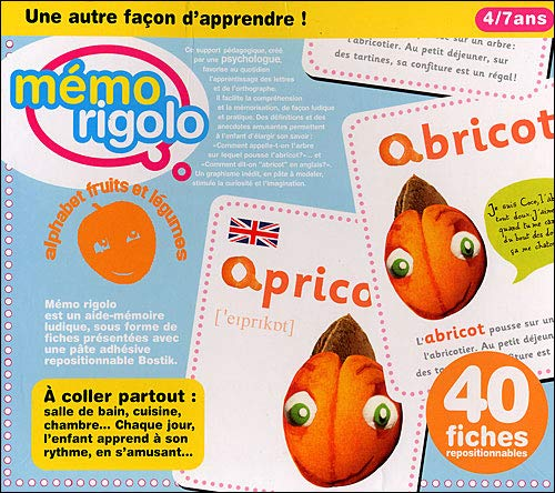 9782916829012: Memo Rigolo Alphabet Fruits et Legumes (French Edition)