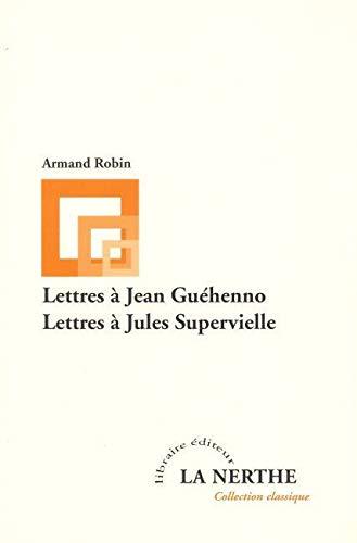 9782916862040: Lettres à Jean Guéhenno suivies de Lettres à Jules Supervielle