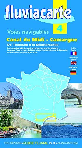 9782916919393: Les voies navigables du canal du Midi Camargue : De Toulouse à la Méditerranée (Fluviacarte)