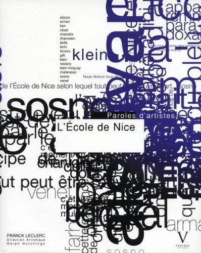 """""""l'école de Nice ; paroles d'artistes"""": Franck Leclerc"""