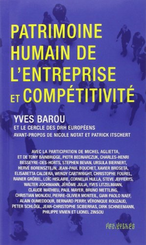 9782917088340: Patrimoine humain de l'entreprise et compétitivité