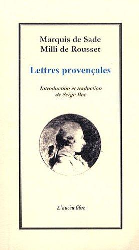 9782917111116: Lettres provençales