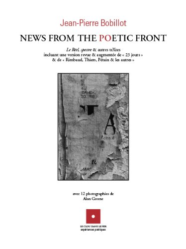 9782917824160: news from the poetic front
