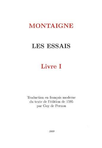 9782918067030: Les Essais : Livre 1