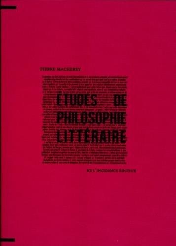 9782918193241: Etudes de philosophie littéraire