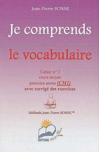 9782918778134: Je comprends le vocabulaire CM1 (French Edition)