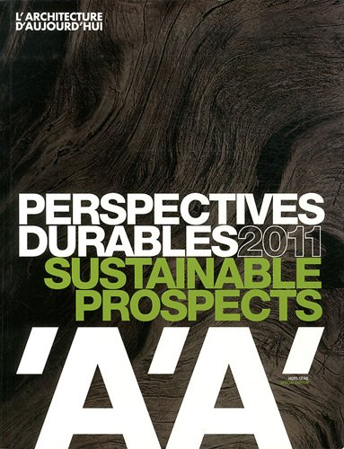9782918832072: L'architecture d'aujourd'hui : Perspectives durables 2011