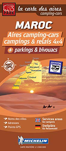 9782919004218: Morocco Map - Motorhomes Stopovers: 1 (Trailers Park Motor Home Stopovers)