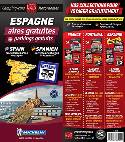 9782919004294: Spain Map - Free Motorhome Stopovers (Trailers Park Motor Home Stopovers)
