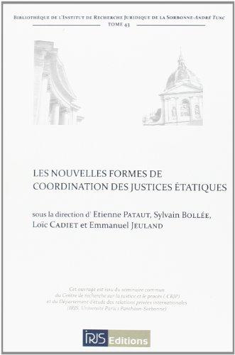 9782919211234: Les nouvelles formes de coordination des justices étatiques