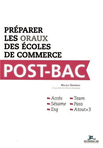 9782919235032: Préparer les oraux des écoles de commerce Post-Bac