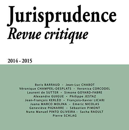 Jurisprudence - Revue Critique 2014 - 2015