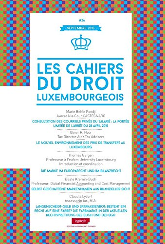 9782919778805: Cahier du Droit Luxembourgeois N 26