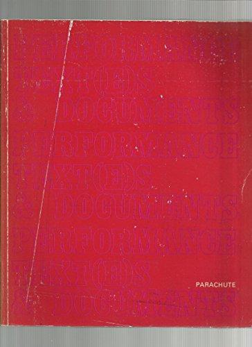 9782920284029: Performance Text(E)S & Documents: Actes Du Colloque Performance Et Multidisciplinarite- Postmodernisme- Montreal- 9- 10- 11 Octobre 1980