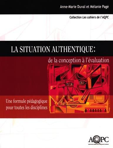 SITUATION AUTHENTIQUE DE LA CONCEPTION: DUVAL PAGE